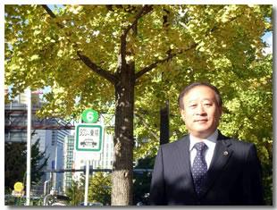 会長11月の挨拶 御堂筋のイチョウ並木が色づく季節になりました。