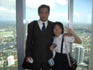 2010年国際親善交流オーストラリア訪問 ゴールドコーストQ1タワーにて