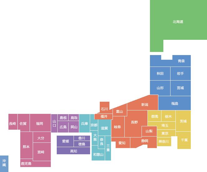 日本地図(会員分布)